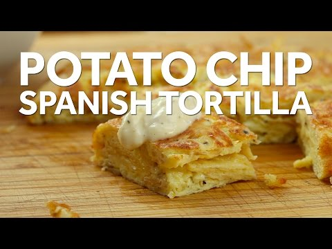 Make A Spanish Tortilla In Just Ten Minutes With Potato Chips