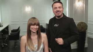 Hair Tutorial: Clip-on bangs! Celebrity stylist Ron King shows how to apply trendy clip-on bangs