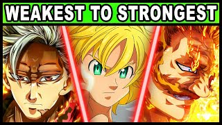 All 7 Sins RANKED from Weakest to Strongest! (Updated) | Seven Deadly Sins / Nanatsu no Taizai