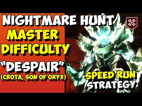Master Nightmare Hunt : Despair - Crota Time Trial Speed Run Strategy [Destiny 2]