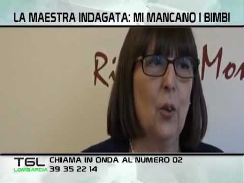 Alessia Sorgato con la maestra Simona su TG Lombardia