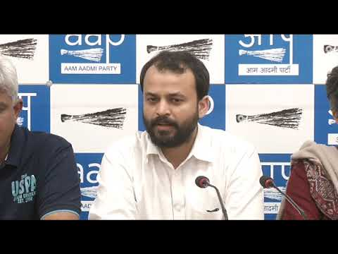 Aap Leader Ashish Khetan Briefs on how mob of people heckled him & Minister Imran Hussian at Sect