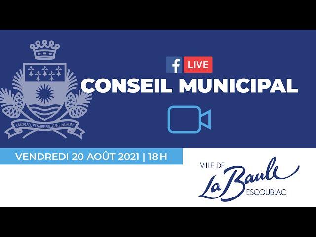 Conseil municipal du 20 août 2021