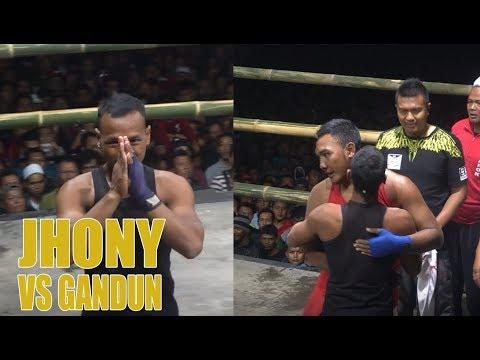 JOHNY HUNTER vs GANDUN - Pencak Dor Punjul Plosoklaten Kediri 2019 | Pencak Dor Official