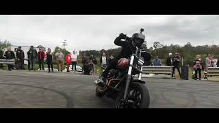 Six Six Harley Wheelies at the Richardson's H-D 40th - by Josh Bainbridge