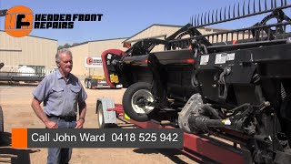 preview picture of video 'Macdon 2150 40 foot front refurbish Swan Hill'