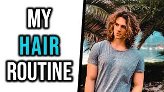 Long CURLY HAIR Shower Routine For MEN - My Model Routine