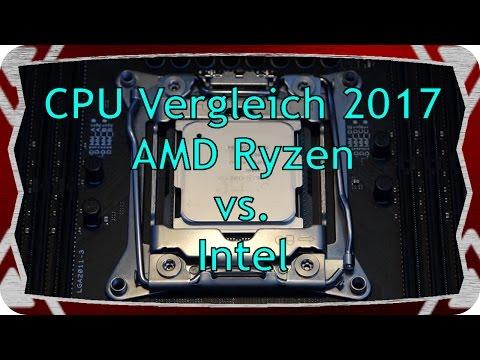 Prozessor Vergleich Benchmark Test - mit AMD Ryzen - Rangliste - Bestenliste 2017