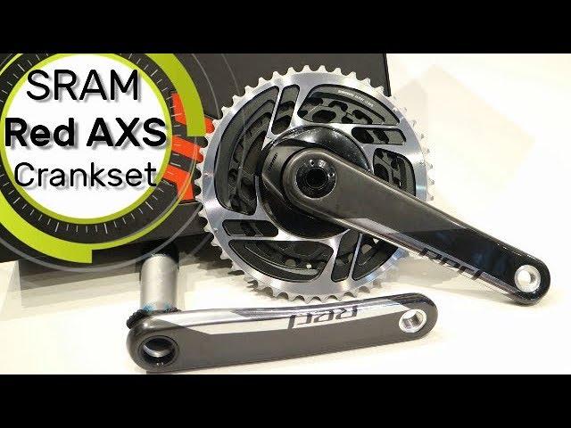 Видео Шатуны Sram Red 1 D1 AXS Crankset, 24mm GXP, 50-37T, 172.5mm, 12 Speed черные