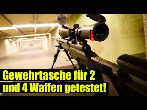 Gewehrtasche für 2 im Test und 4 Waffen testen 45x70,  308, Schrott