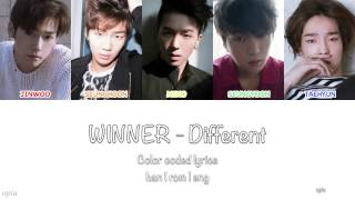 WINNER (위너) - Different 《Color Coded Han|Rom|Eng Lyrics》