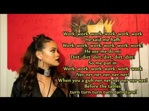Rihanna - Work (lyrics) - Cover