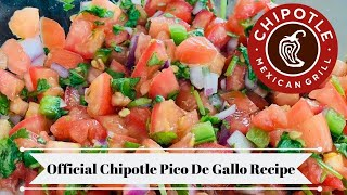 Chipotle Copycat Pico De Gallo