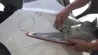 Как снять поставить задние фонари Hyundai iX-35 и поменять все лампы.