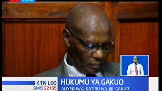 Hukumu ya aliyekuwa katibu wa jiji la Nairobi John Gakuo