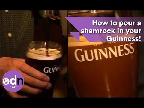 Guinness Shamrock Pour