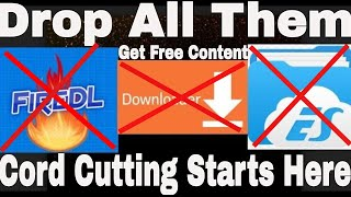 Drop Downloader, Fire DL and ES File Explorer |The Ultimate Cord Cutter APP| Cord cutters start here