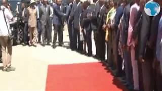 Uhuru arrives in Nakuru for the Music Festival Gala