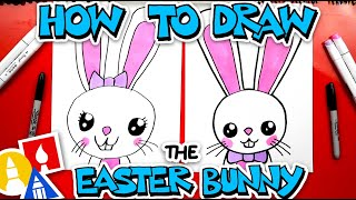 How To Draw A Big Easter Bunny Portrait