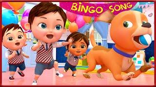 Bingo School Dog Song , Baby Shark , Wheels on the Bus , Happy Birthday Song - Banana Cartoon