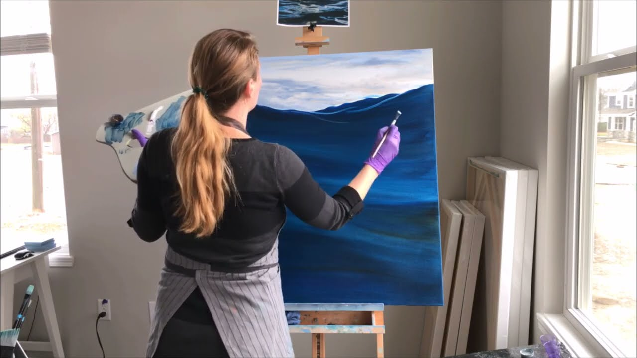 realistic ocean waves step by step instructions oil painting tutorial by eva volf