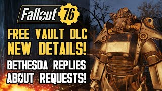 Fallout 76 - NEW FREE Vault DLC Details!  GECK Terraforming, Strangler Enemies! Bethesda Responds!