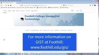 Foothill College Enterprise ArcGIS Online login
