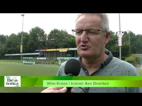 VIDEO | Asv Dronten-trainer Wim Kroes: ,,We spelen niet voor de fun''