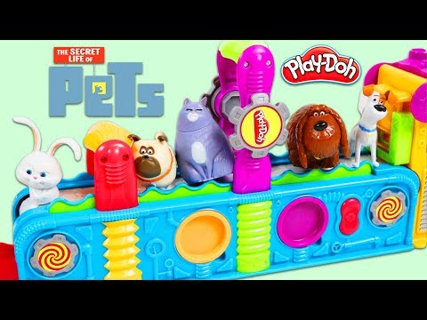 The Secret Life of Pets Characters Visit the Play Doh Mega Fun Factory to Collect Surprise Toys!