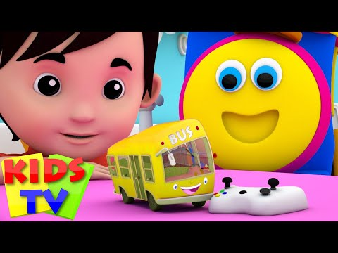 Download the wheels on the bus go round and round | bus song | baby songs | bob the train | kids tv HD Video