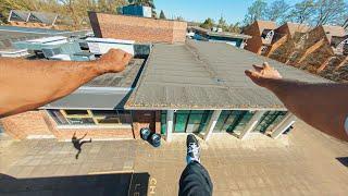 【主観映像】イギリスの屋上でパルクール