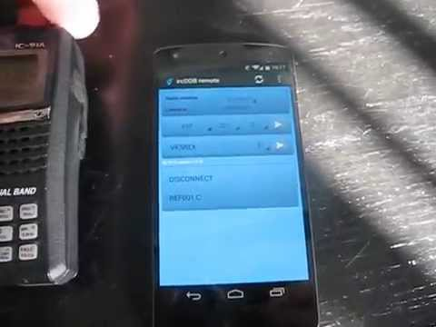Video of ircDDB remote for android 2.x