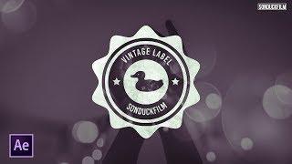 Design a Vintage Label   After Effects Motion Graphics Tutorial