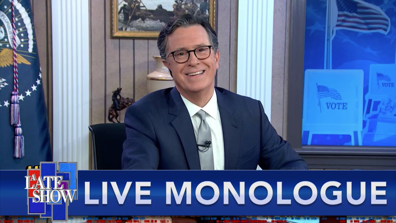 The Only Certainty Is Uncertainty As Stephen Colbert Starts His Election Night Special thumbnail