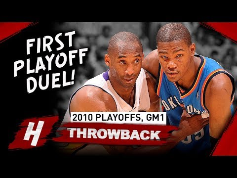 46138fb8e9bd Kobe Bryant vs Kevin Durant FIRST EVER PLAYOFF Duel