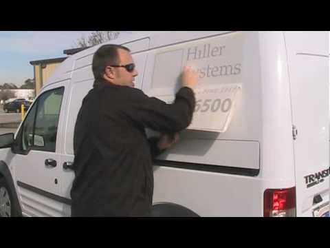 How to Apply Vinyl Letters and Graphics to a Van Part 1-9:39min