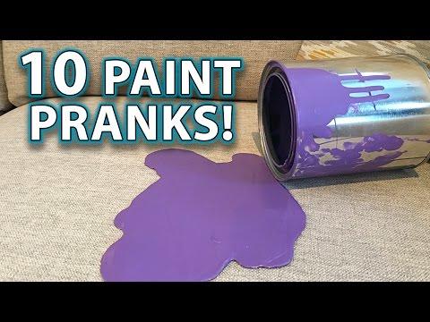 Top 10 PAINT PRANKS, DIY TRICKS & HACKS!