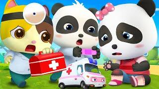 Baby Panda Got Injured   Doctor Cartoon   Boo Boo Song   Kids Songs   Baby Cartoon   BabyBus