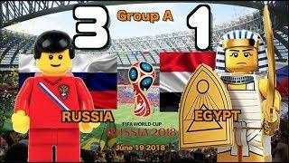 🔥 Россия vs Египет 3-1 • World Cup 2018 All Goals Highlights Lego Football