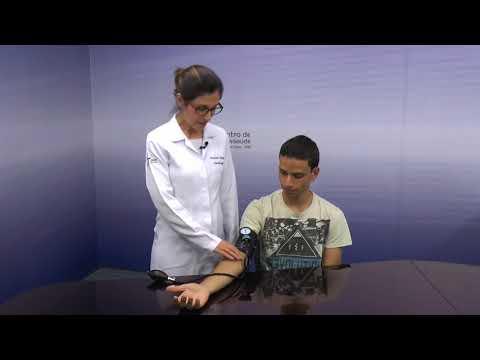Taxa de pressão arterial em crianças de 12 anos de idade