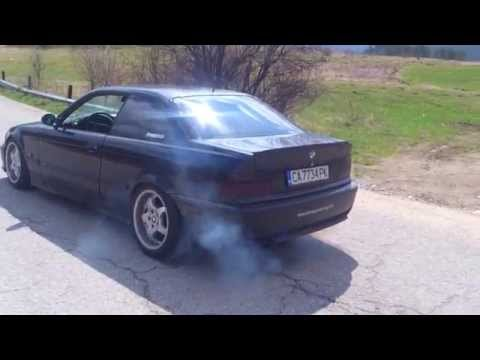 BMW E36 325i burnout BG