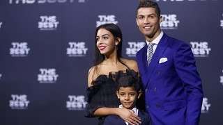 Cristiano Ronaldo Cuddles Mini Me Son And Georgina Rodriguez