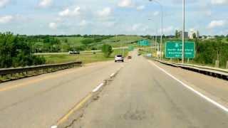 Canadian Dashcam - Battleford to North Battleford, Saskatchewan