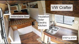 Full Van Conversion of a VW Crafter / DIY Campervan / Vanbuild for Couple + Dog