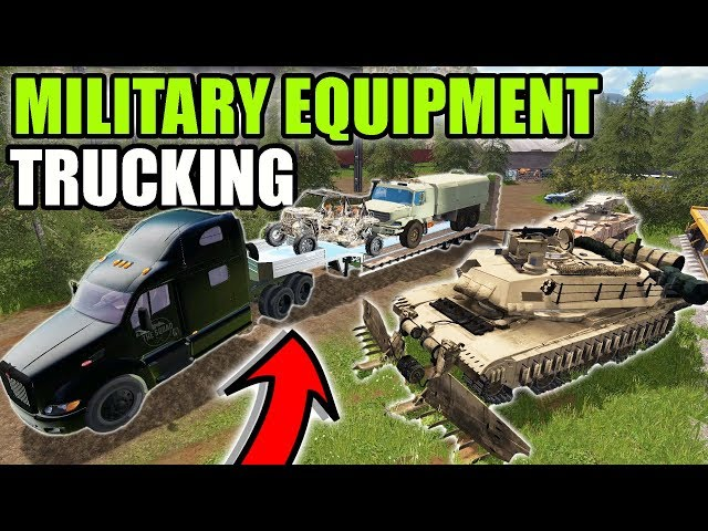 HAULING MILITARY EQUIPMENT ACROSS COUNTRY W/ THE CREW | MULTIPLAYER | FARMING SIMULATOR 2017