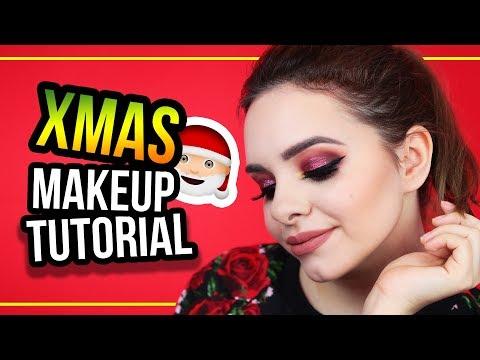 XMAS Inspired Makeup Tutorial 🎄 ...mit einer unzufriedenen Ally 😅 - #24DaysOfChristmas