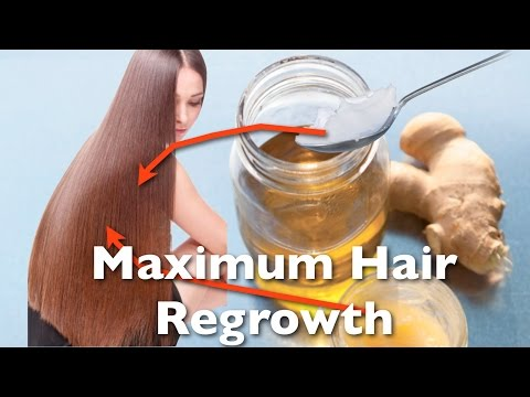 Maximum Hair Regrowth With This Ginger / Coconut Oil Hair Mask / Hair loss prevention