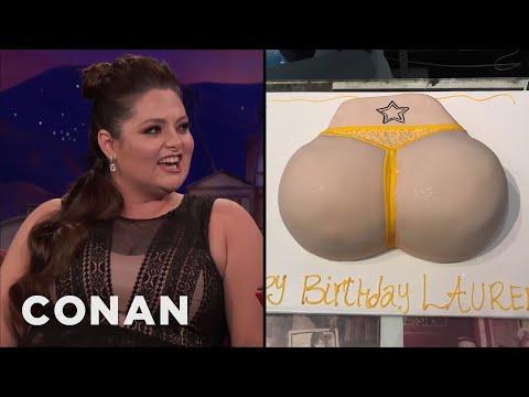 Lauren Ash's Birthday Butt Cake  - CONAN on TBS