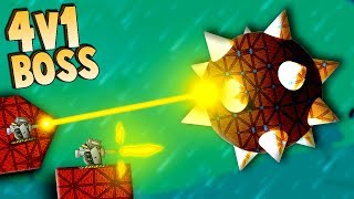 BOSS BATTLES, 4 vs 1 SUPER FORTS (Forts Multiplayer Gameplay)