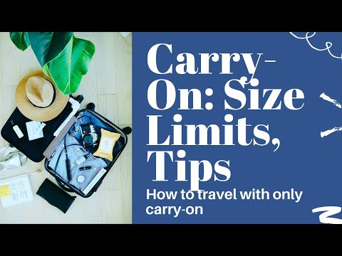 #CarryOnLuggageBest Carry On Size and How to Travel Well with a Carry-On